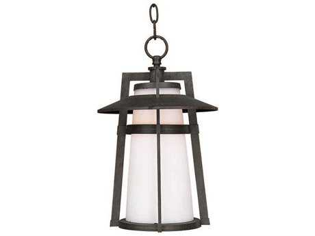 Maxim Lighting Calistoga Adobe & Satin White Glass 10'' Wide Incandescent Outdoor Hanging Light