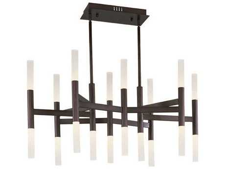 Maxim Lighting Pinnacle LED Bronze 18-Light 19 Wide Mini-Chandelier