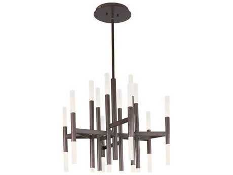 Maxim Lighting Pinnacle LED Bronze 24-Light 33.5 Wide Chandelier