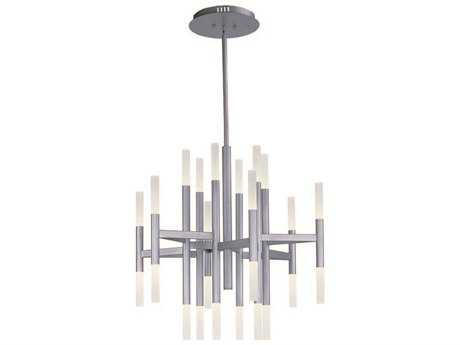 Maxim Lighting Pinnacle LED Metallic Silver 24-Light 33.5 Wide Chandelier