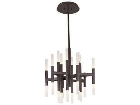 Maxim Lighting Pinnacle LED Bronze 24-Light 26 Wide Chandelier
