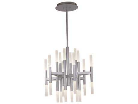 Maxim Lighting Pinnacle LED Metallic Silver 24-Light 26 Wide Chandelier