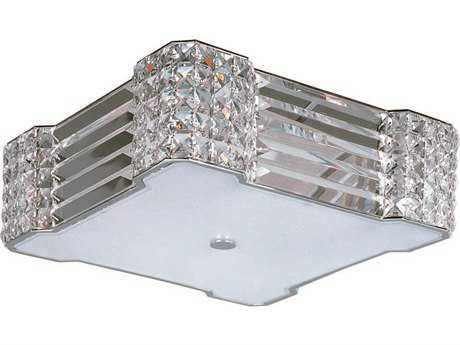 Maxim Lighting Manhattan Polished Chrome Four-Light 15'' Wide Flush Mount Light