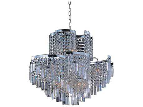 Maxim Lighting Belvedere Polished Chrome & Beveled Crystal  19-Light 31'' Wide Pendant Light