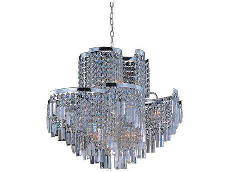 Maxim Lighting Belvedere Polished Chrome & Beveled Crystal  19-Light 31'' Wide Pendant Light
