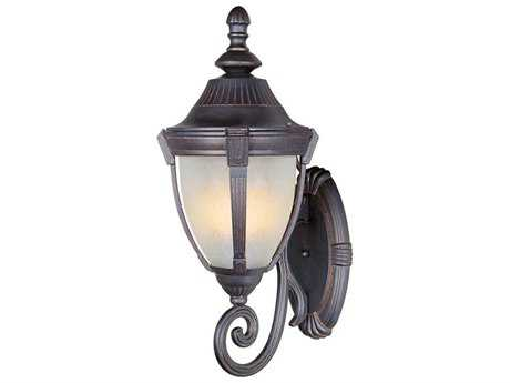Maxim Lighting Wakefield Empire Bronze & Marble Glass 11.5'' Wide Incandescent Outdoor Wall Light