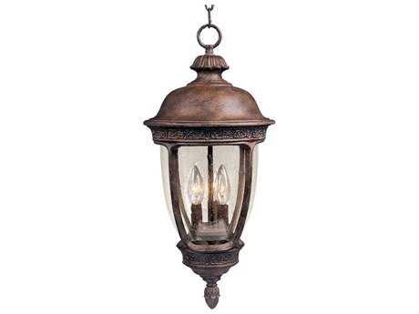 Maxim Lighting Knob Hill VX Sienna & Seedy Glass Three-Light 10'' Wide Incandescent Outdoor Hanging Light
