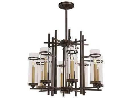 Maxim Lighting Midtown Gold Bronze Eight-Light 36'' Wide LED Chandelier