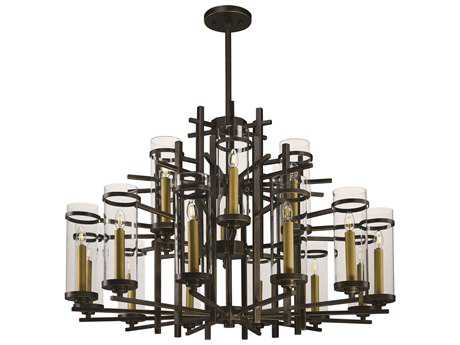 Maxim Lighting Midtown Gold Bronze 18-Light 47'' Wide LED Grand Chandelier
