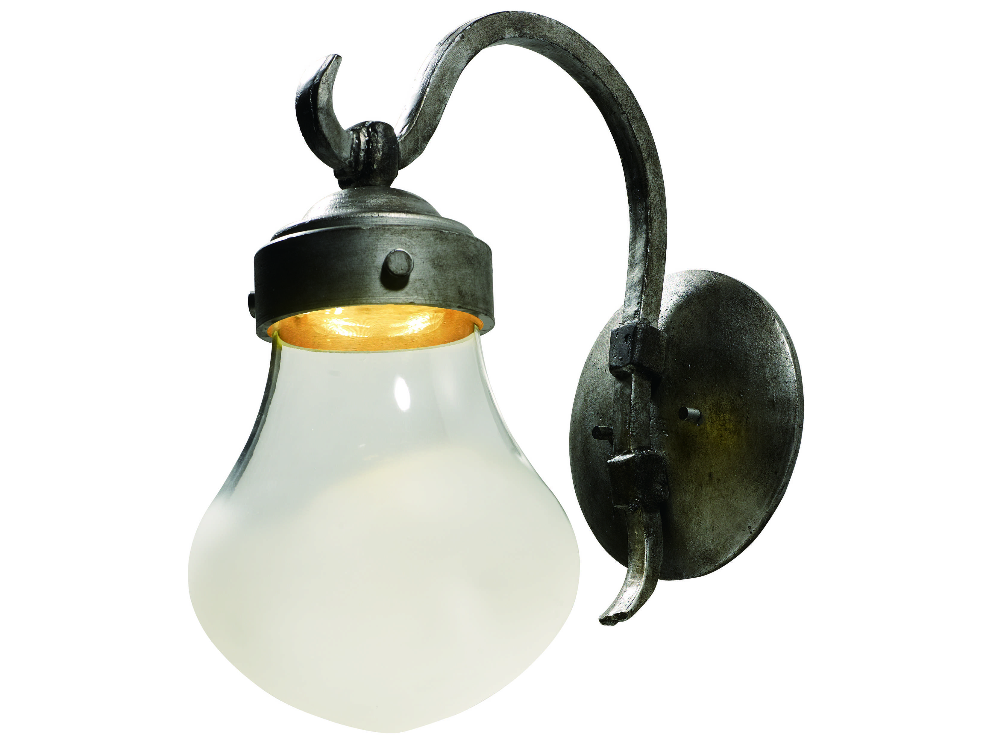 Maxim Lighting Rustica Blacksmith with Fog Glass LED Outdoor Wall Light MX54472FGBS