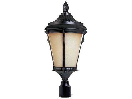 Maxim Lighting Odessa Espresso & Latte Glass 11.5'' Wide LED Outdoor Post Light