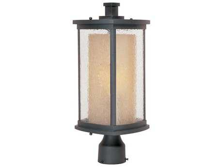 Maxim Lighting Bungalow Bronze & Seedy-Wilshire Glass 8'' Wide LED Outdoor Post Light