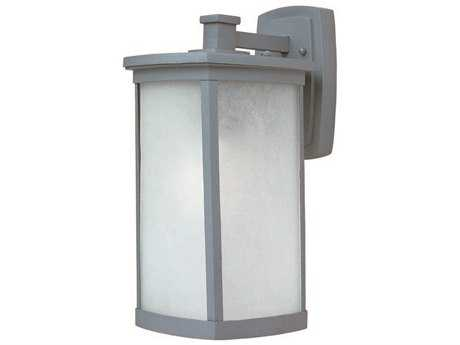 Maxim Lighting Terrace Platinum & Frosted Seedy Glass 8'' Wide LED Outdoor Wall Light