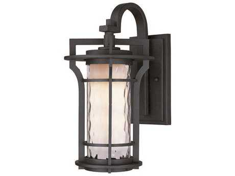 Maxim Lighting Oakville Black Oxide & Wate Glass 12'' Wide LED Outdoor Wall Light