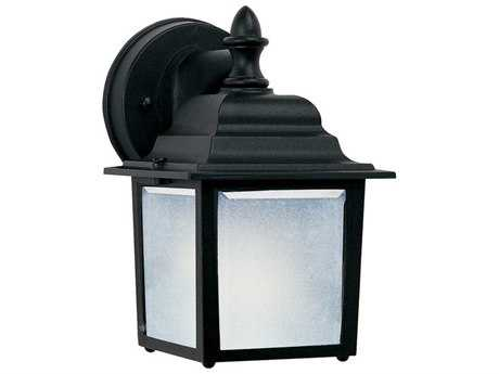 Maxim Lighting Side Door Black & Frosted Glass 5.5'' Wide LED Outdoor Wall Light