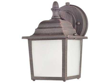 Maxim Lighting Side Door Rust Patina & Frosted Glass 5.5'' Wide LED Outdoor Wall Light