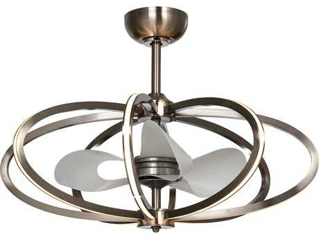 Maxim Lighting Fandelier Polished Chrome Eight-Light 34'' Wide LED Indoor Ceiling Fan