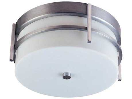Maxim Lighting Luna Brushed Metal & White Two-Light 11'' Wide Fluorescent Outdoor Ceiling Light
