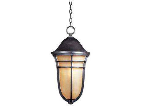 Maxim Lighting Westport Artesian Bronze & Mocha Cloud Glass 10.5'' Wide Fluorescent Outdoor Hanging Light