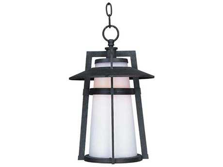Maxim Lighting Calistoga Adobe & Satin White Glass 10'' Wide Fluorescent Outdoor Hanging Light