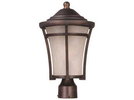 Maxim Lighting Balboa Copper Oxide & Lace Glass 10'' Wide Fluorescent Outdoor Post Light