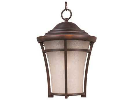 Maxim Lighting Balboa Copper Oxide & Lace Glass 12'' Wide Fluorescent Outdoor Hanging Light