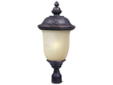 Maxim Lighting Carriage House Oriental Bronze & Mocha Glass 12.5'' Wide Fluorescent Outdoor Post Light