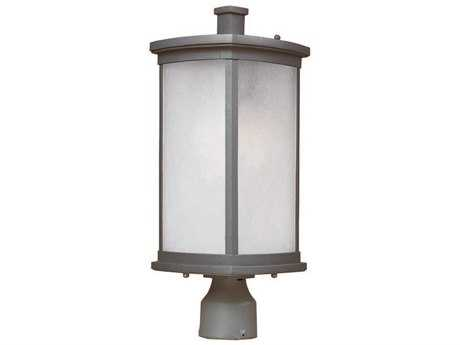 Maxim Lighting Terrace Platinum & Frosted Seedy Glass 8'' Wide Fluorescent Outdoor Post Light