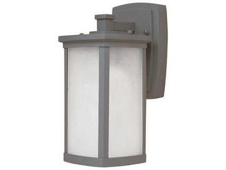 Maxim Lighting Terrace Platinum & Frosted Seedy Glass 5'' Wide Fluorescent Outdoor Wall Light