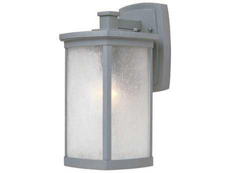 Maxim Lighting Terrace Platinum & Frosted Seedy Glass 7'' Wide Fluorescent Outdoor Wall Light