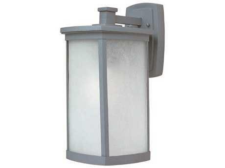 Maxim Lighting Terrace Platinum & Frosted Seedy Glass 8'' Wide Fluorescent Outdoor Wall Light