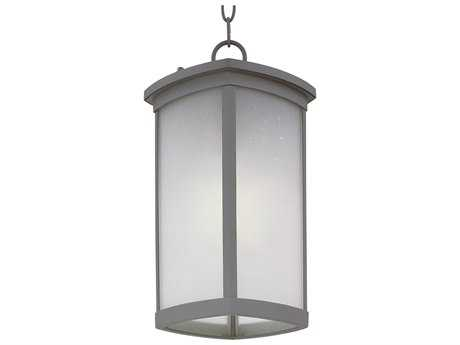 Maxim Lighting Terrace Platinum & Frosted Seedy Glass 8'' Wide Fluorescent Outdoor Hanging Light (Sold in 4)