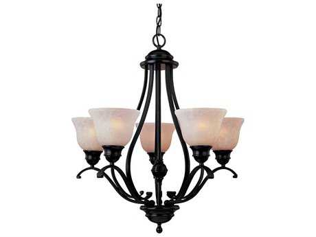 Maxim Lighting Linda EE Oil Rubbed Bronze Five-Light 26 Wide Chandelier