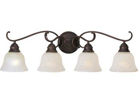 Maxim Lighting Linda EE Oil Rubbed Bronze Four-Light Vanity Light with Ice Glass