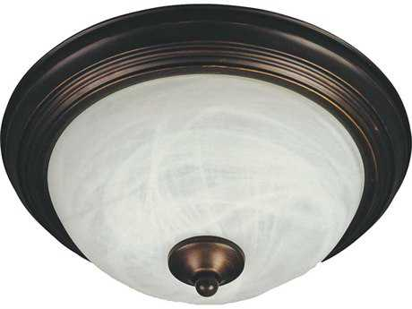 Maxim Lighting Oil Rubbed Bronze & Marble Glass Three-Light 15.5'' Wide Fluorescent Flush Mount Light