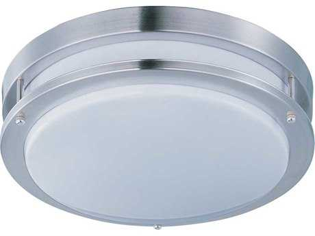 Maxim Lighting Linear Satin Nickel 14'' Wide LED Flush Mount Light