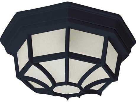 Maxim Lighting Black Fluorescent Outdoor Ceiling Light