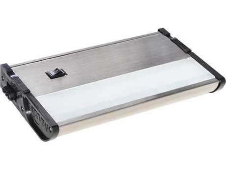 Maxim Lighting CounterMax MX-L120-DL Satin Nickel & Clear Glass 7'' Long 2700K LED Under Cabinet Light