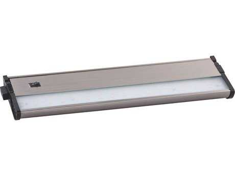 Maxim Lighting CounterMax MX-L120-DL Satin Nickel & Clear Glass 13'' Long 2700K LED Under Cabinet Light