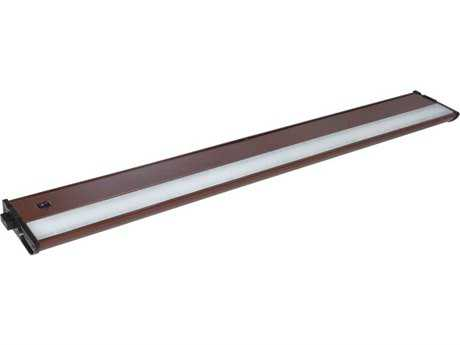 Maxim Lighting CounterMax MX-L120-DL Metallic Bronze & Clear Glass 30'' Long 2700K LED Under Cabinet Light
