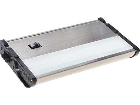 Maxim Lighting CounterMax MX-L120-DL Satin Nickel & Clear Glass 7'' Long 3000K LED Under Cabinet Light