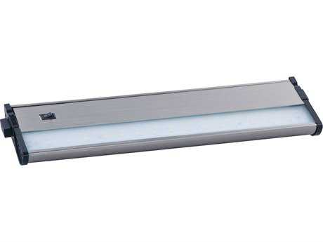 Maxim Lighting CounterMax MX-L120-DL Satin Nickel & Clear Glass 13'' Long 3000K LED Under Cabinet Light
