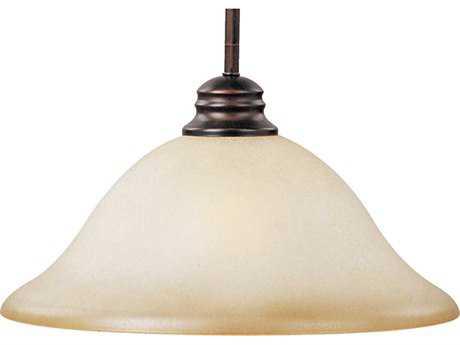 Maxim Lighting Essentials-9106x Oil Rubbed Bronze & Wilshire Glass 13'' Wide Pendant Light
