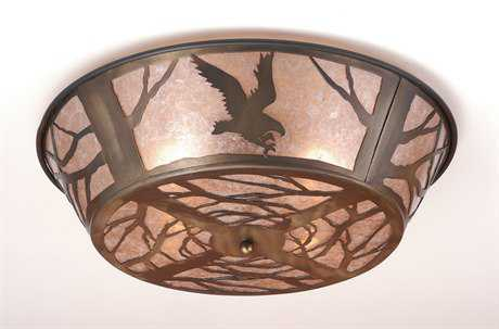 Meyda Tiffany Northwood's Strike of The Eagle Four-Light Flush Mount Light