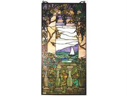 Meyda Tiffany Wisteria Left Column Stained Glass Window