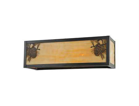 Meyda Tiffany Winter Pine Two-Light Wall Sconce