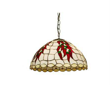 Meyda Tiffany Chili Peppers Three-Light Pendant Light
