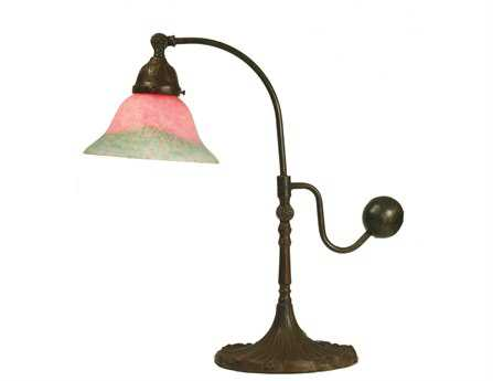 Meyda Tiffany Counter Balance Pink & Green Accent Table Lamp