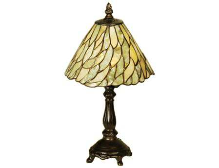 Meyda Tiffany Jadestone Willow Multi-Color Mini Table Lamp