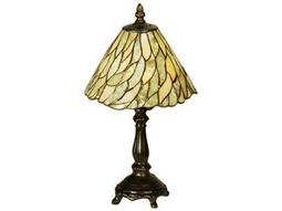 Meyda Tiffany Jadestone Willow Multi-Color Mini Table Lamp